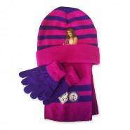 VIOLETTA Set Inverno CAPPELLO Berretto SCIARPA e GUANTI Originali DISNEY Beanie Hat Gloves