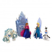 "SET 6 Figure Personaggi FROZEN ""FEVER"" Compleanno ANNA ELSA OLAF SVEN Disney TORTA Cake Toppers"