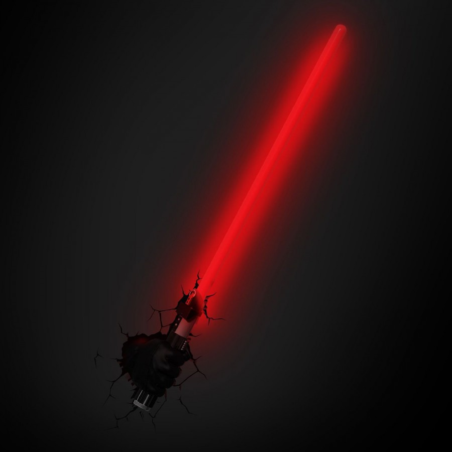 Darth Vader LIGHTSABER Lamp LED Wall Light STAR WARS 3D LIGHT Philips OFFICIAL - Apecollection