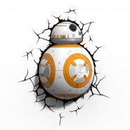 BB-8 Robottino LAMPADA LED Muro Parete STAR WARS VII 3D LIGHT Philips