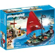 Playset PIRATES Club SET Ship Island Playmobil 5646 LIMITED 115 Pieces