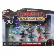 DRAGONS BOX Set 15 Figure Draghi Dragoni 5-10cm Dragon Trainer SPIN MASTER