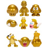SUPER MARIO BROS U Set 3 MINI Figure ORO GOLD Serie Nintendo MICRO LAND Originale JAKKS PACIFIC