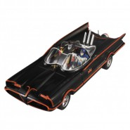 BATMAN CLASSIC 1966 SERIE TV Modello Con Figure BATMOBILE 1:18 MATTEL Hot Wheels