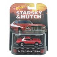 STARSKY e HUTCH Modellino Auto 1976 Ford GRAN TORINO 1:64 Hot Wheels MATTEL