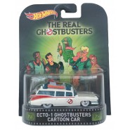 GHOSTBUSTERS Modellino Auto ECTO-1 Cartoon Car 1:64 Hot Wheels MATTEL