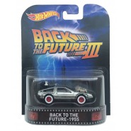 Modello Auto DeLorean 1955 Time Machine da RITORNO AL FUTURO 3 Scala 1:64 Hot Wheels MATTEL CFR30
