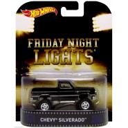 FRIDAY NIGHT LIGHTS Modellino Auto CHEVY SILVERADO 1:64 Hot Wheels MATTEL