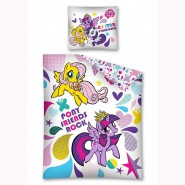 MY LITTLE PONY Set Letto PONY FRIENDS ROCK 140x200 Reversibile COPRIPIUMINO Federa