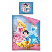 PRINCIPESSE DISNEY Animal Friends AURORA BIANCANEVE CENERENTOLA Set Letto DISNEY 100% Cotone