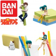 LAMU Urusei Yatsura SET 5 FIGURE Collezione DESKTOP Collection Bandai Gashapon JAPAN