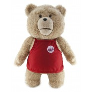 TALKING Plush 45cm TED BEAR Dressed SUPERMARKET Red Apron