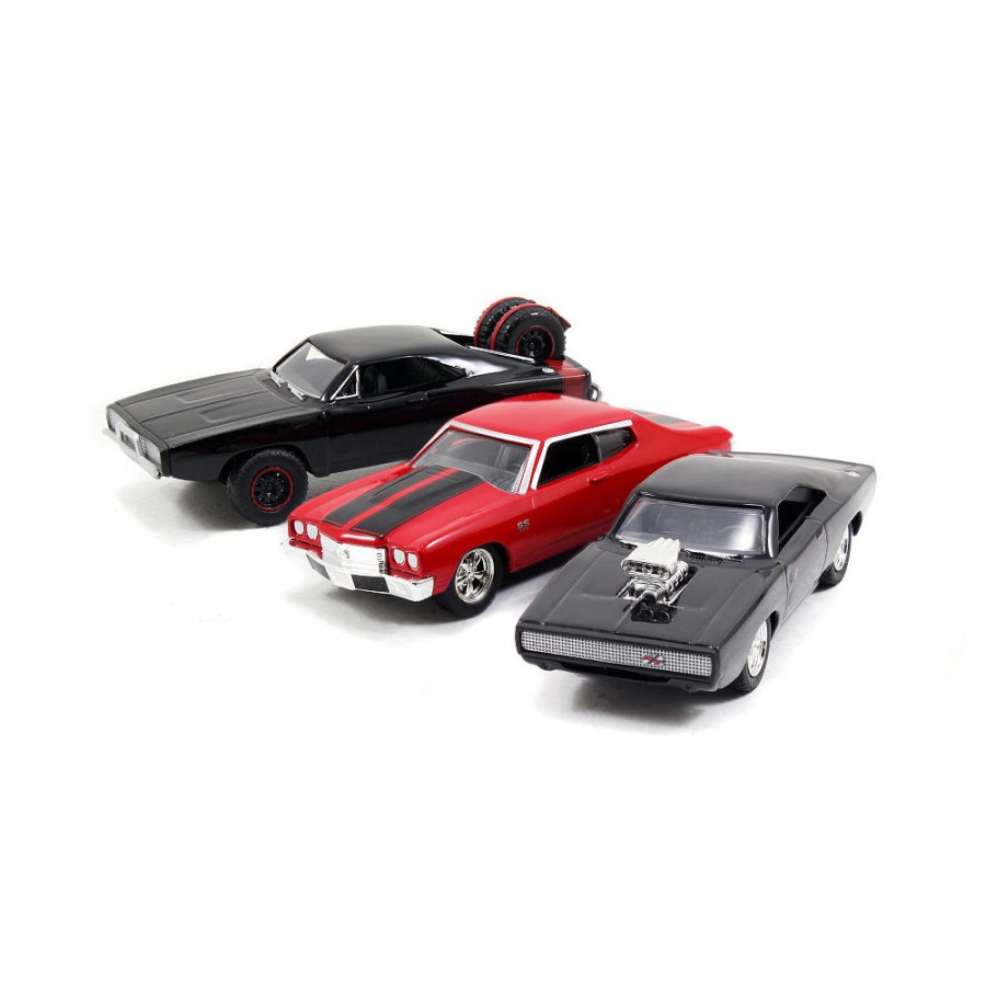 FAST and FURIOUS Set 3 Models DOM's RIDES Cars 1:55 ...
