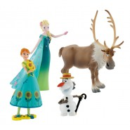 Disney FROZEN FEVER Set 4 Figure OLAF ELSA ANNA SVEN Originali BULLYLAND Box