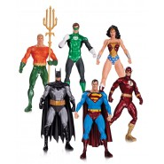 Box 6 Figure Action JUSTICE LEAGUE Alex Ross 18cm Originali DC COLLECTIBLES