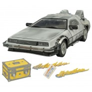 BACK TO THE FUTURE Model DE LOREAN Iced 1/15 Light Sound DIAMOND Time Machine
