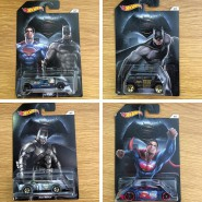 BATMAN VS SUPERMAN Set 4 Modellini AUTO Scala 1:64 MATTEL Hot Wheels DIE CAST Dc