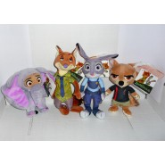 ZOOTROPOLIS Zootopia COMPLETE SET 4 different PLUSHIES 20cm Nick Judy Finnick Elephant