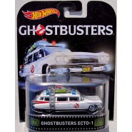 GHOSTBUSTERS Modellino Auto ECTO-1 Movie Version 1:64 Hot Wheels MATTEL