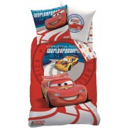 COPRIPIUMINO Set Letto CARS Saetta McQueen GP WORLD GRAND PRIX Disney ORIGINALE 160x200cm