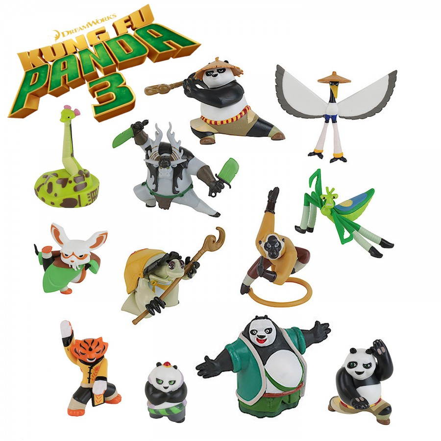 Kung Fu Panda 3 Plastic Figure With Blister Choose Your