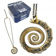 DR. WHO Necklace PENDANT Metal Spiral WIBBLY WOBBLY Tardis