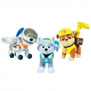 PAW PATROL Special BOX 3 FIGURE Action ROBODOG + EVEREST + RUBBLE Originali SPIN MASTER