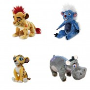 Re Leone THE LION GUARD Set Completo 4 PELUCHE 18cm Originali DISNEY Kion Banga Fuli Beshte