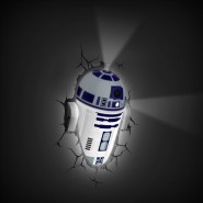 Robot R2-D2 Luce LAMPADA LED Muro Parete STAR WARS VII 3D LIGHT Philips R2D2