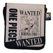 ONE PIECE Borsa Tracolla RORONOA ZORO Wanted 35x32cm Originale Ufficiale JAPAN Messenger Bag