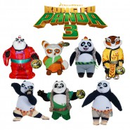 KUNG FU PANDA 3 Plush Medium Size 25cm Choose Your Character ORIGINAL Whitehouse PO LI BAO SHIFU TIGER MEI MEI