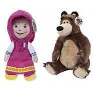 COUPLE Set 2 Plushies 20cm MASHA + BEAR MISHA Original PMS