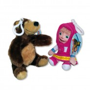 COUPLE Set 2 Plushies 14cm MASHA + BEAR MISHA Original PMS