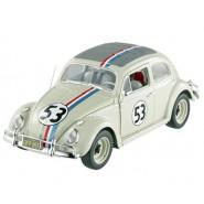 Modello Auto HERBIE Love Bug MAGGIOLINO TUTTO MATTO Beetle VW Scala 1/18 DieCast Metallo HOT WHEELS