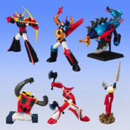 CHOGOKIN Set 5 Figure MINI ROBOT Parte 4 POPY Originali BANDAI Japan GETTER
