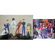 Set 6 Figure EVA GIRLS Evangelion Gals PART 5 Originali BANDAI JAPAN