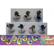 RARE Set 7 figures 5cm KERORO COLLECTION Part 1 BANDAI JAPAN