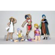 Set 6 Figure EVA GIRLS Beach BIKINI Evangelion Gals PART 6 Originali BANDAI JAPAN