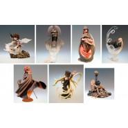 RARO Set 7 Figure Statuette VARIANTI Segrete CAPITAN HARLOCK Galaxy 999 Trading Figures HAPPINET JP