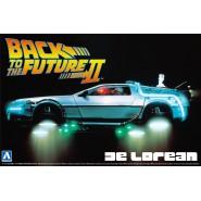 RITORNO AL FUTURO Parte 2 Kit Modello Auto DeLorean DMC-12 1/24 Originale Aoshima BTTF Pt.2 011867