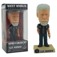 SONS OF ANARCHY Figura CLAY MORROW Bobble Head 15cm Originale FUNKO