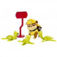 PAW PATROL Set Figure RUBBLE e TARTARUGHE Rescue Playset SPIN MASTER