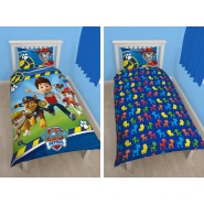 PAW PATROL Ryder Chase Marshall COPRIPIUMINO 140x200cm LET'S ROLL Set Letto Singolo REVERSIBILE 100% COTONE Originale