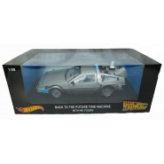 BACK TO THE FUTURE DieCast Model Car DELOREAN and MR. FUSION 1/18 MATTEL Hot Wheels CMC98 DieCast