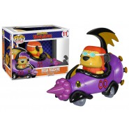 WACKY RACES Modello Auto MEAN MACHINE e Figura MUTTLEY Funko POP Rides 11