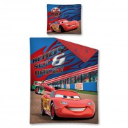 Set Letto CARS READY SET RACE Saetta Bernoulli COPRIPIUMINO e FEDERA 100% Cotone Disney