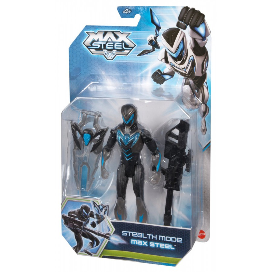 Action Figure Max Steel Stealth Mode With Weapons Original