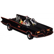 BATMAN Serie TV Classic Modellino BATMOBILE con 2 FIGURE GOMMA Batman Robin Scala 1/24  NJ CROCE
