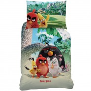Set Letto ANGRY BIRDS MOVIE Film 2016 COPRIPIUMINO e FEDERA 100% Cotone