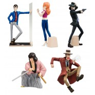 LUPIN Set Completo 5 FIGURE Collezione DESKTOP Collection PART 2 Bandai Gashapon JAPAN